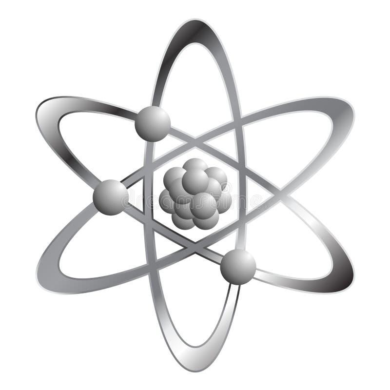 Atom über Weiß vektor abbildung
