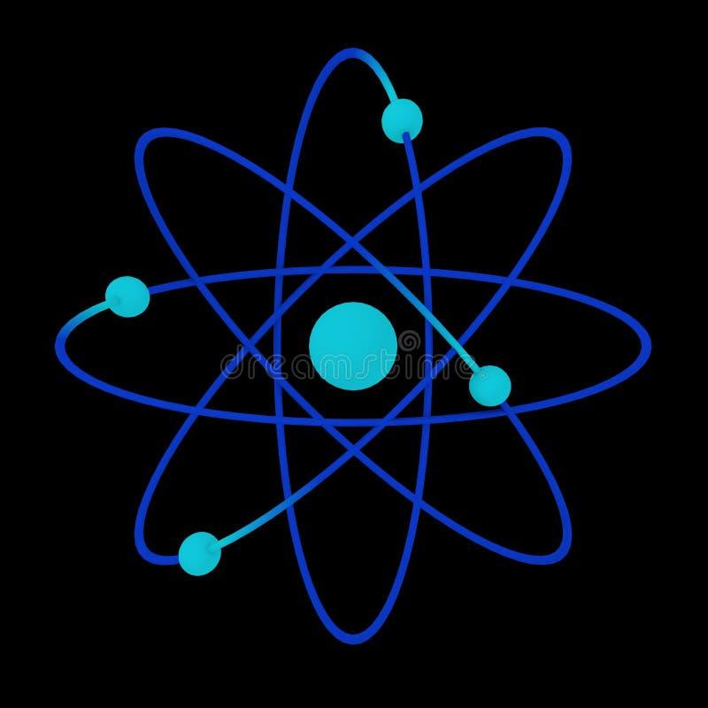 Download Atom stock illustration. Illustration of proton, nucleus - 23466990