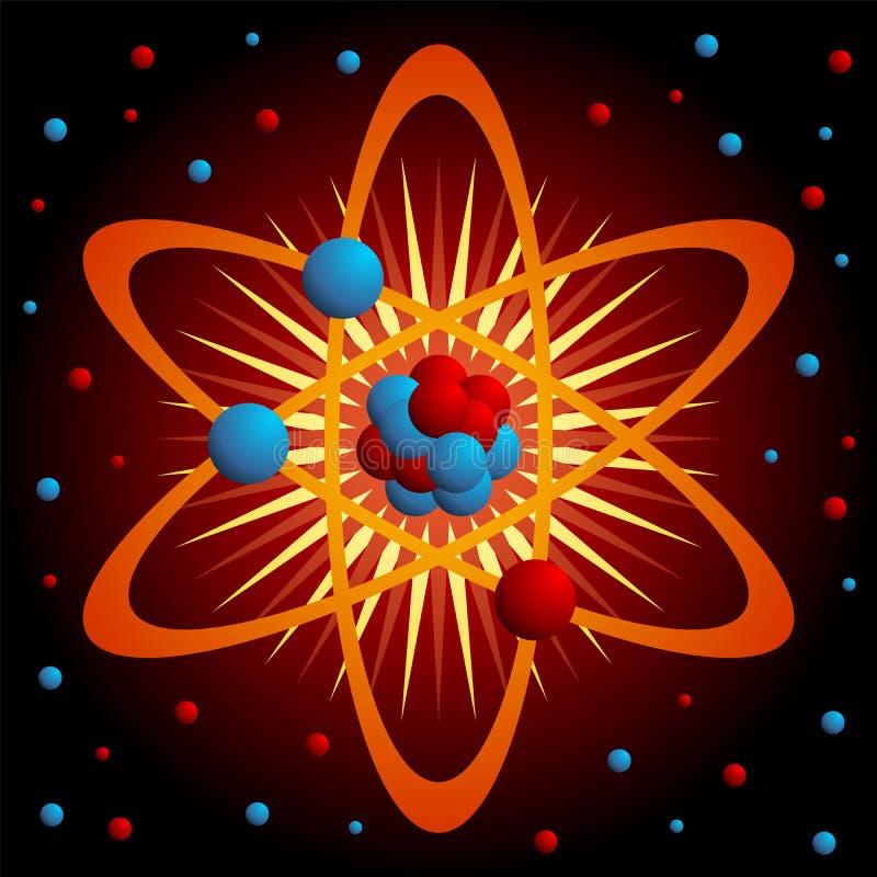 atom vektor illustrationer