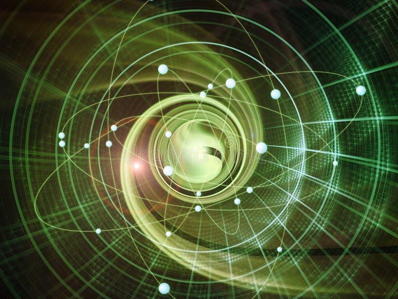 Atom Backdrop stock illustration