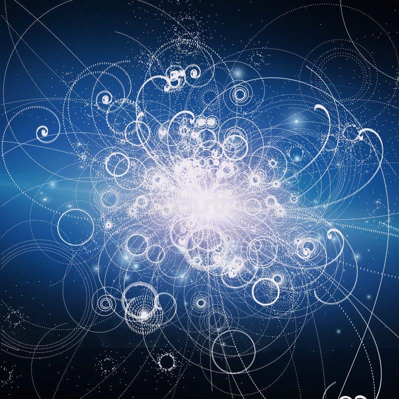 Atom- beståndsdelar stock illustrationer