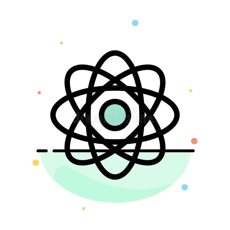 Atom, Biochemie, Chemie, Laborzusammenfassungs-flache Farbikonen-Schablone vektor abbildung