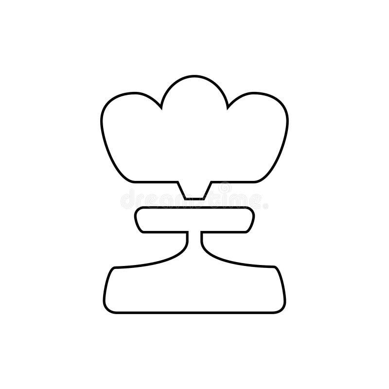 Atom bomb icon. Nuclear danger symbol vector illustration