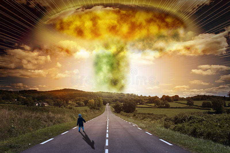 atom- bombardera royaltyfria foton