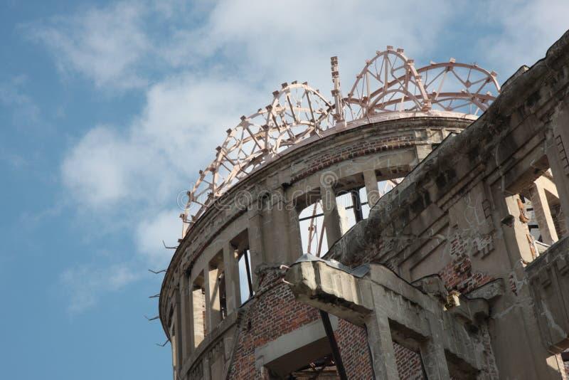 atom- bombardera kupolen hiroshima arkivfoton