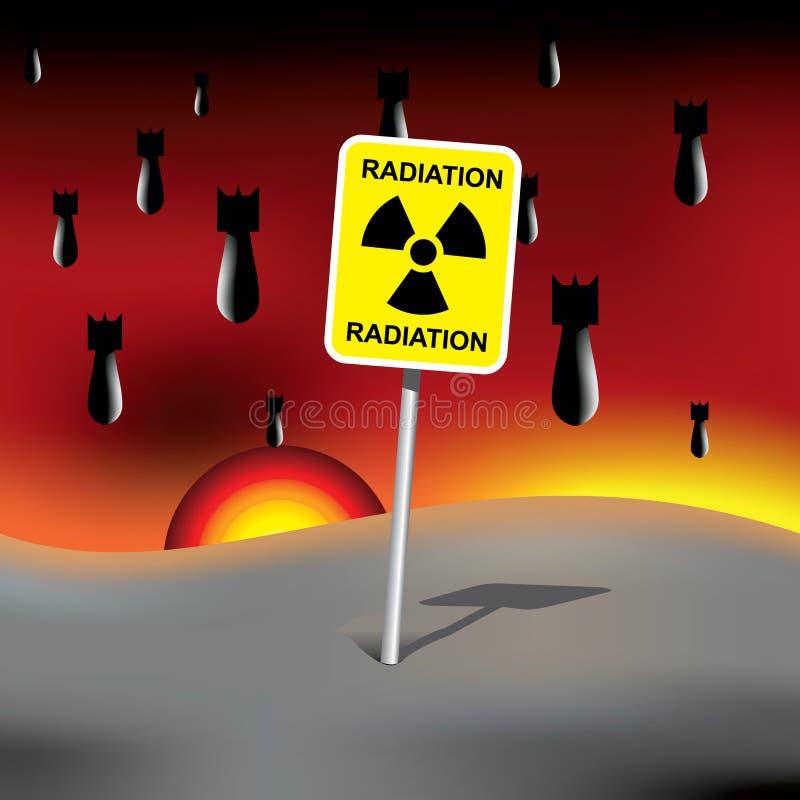 atom- bombarderar stock illustrationer
