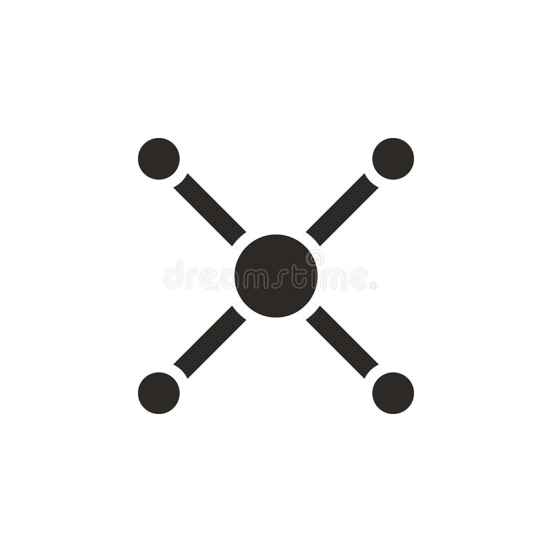 Atom, atom bond icon - Vector. Simple element illustration from UI concept. Atom, atom bond icon - Vector. Infographic concept vector illustration