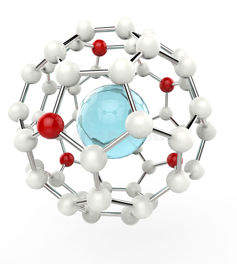 Atom Configuration. Isolated on white background stock illustration