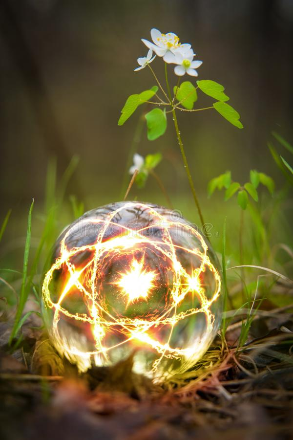 Atom Crystal Ball Nature fotos de archivo