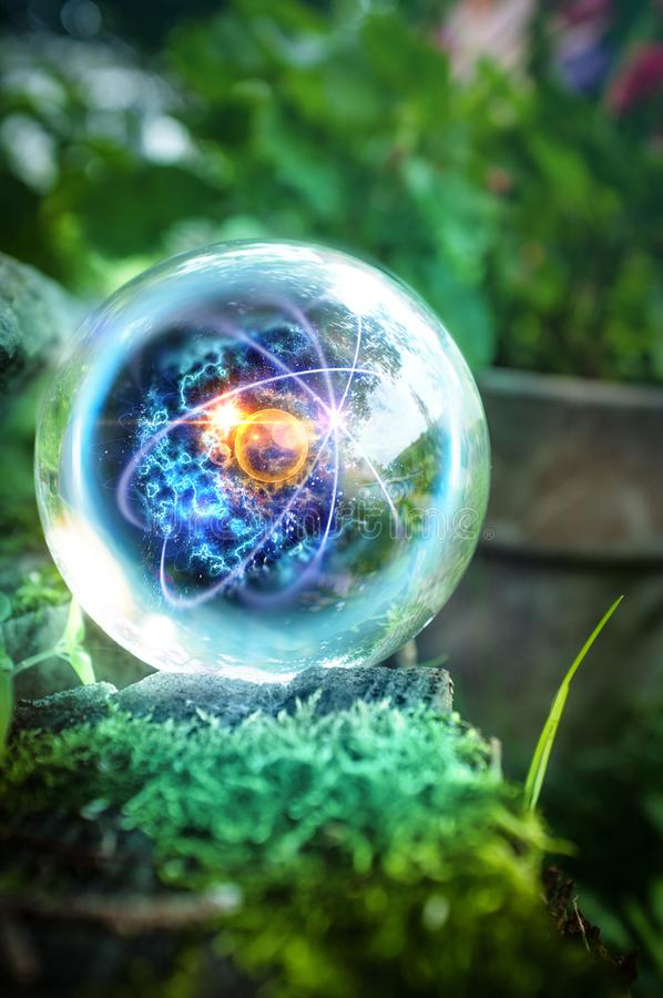 Atom Crystal Ball Nature fotografía de archivo libre de regalías