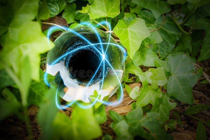 Atom Crystal Ball Nature imagen de archivo libre de regalías