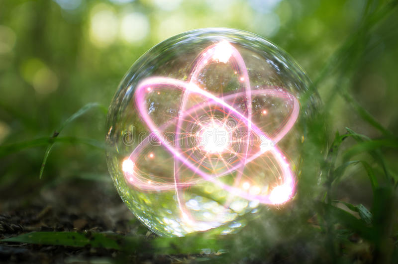 Atom Crystal Ball Nature foto de stock