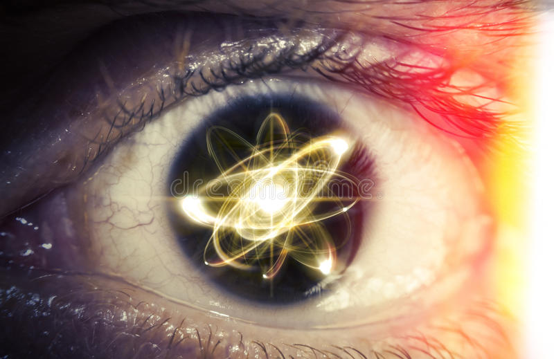 Atom cząsteczki oczy zdjęcie royalty free