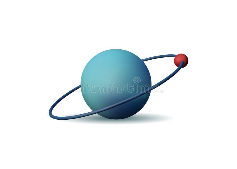 Atom 3D lizenzfreie abbildung