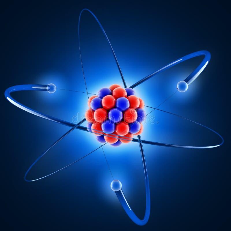 atom 3d royaltyfri illustrationer