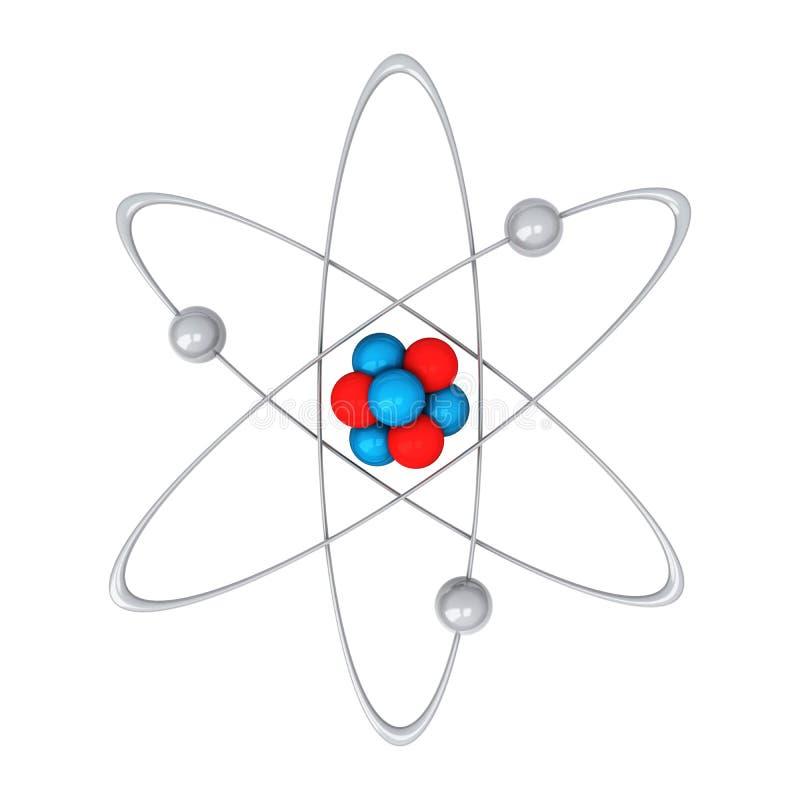 Atom 3d stock illustrationer