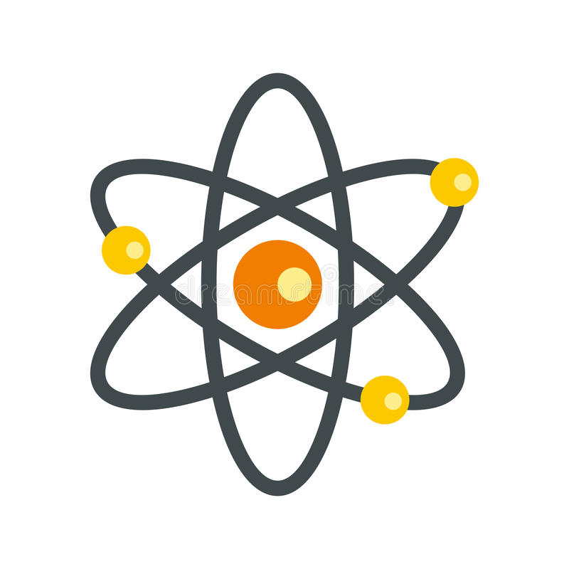 Atom with electrons icon flat style stock vector illustration of download atom with electrons icon flat style stock vector illustration of concept biotechnology ccuart Image collections