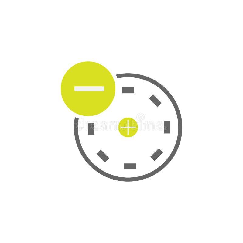 Atom, Elektronikone Element der Wissenschaftsexperimentikone für mobile Konzept und Netz Apps Ausführliches Atom, Elektron kann f lizenzfreie abbildung