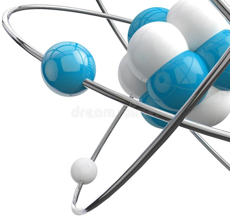 Atom eller molekyl stock illustrationer