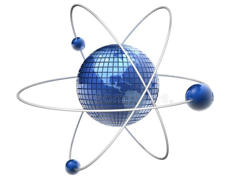 Atom-Erde vektor abbildung