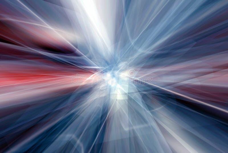 atom- fusion royaltyfri illustrationer