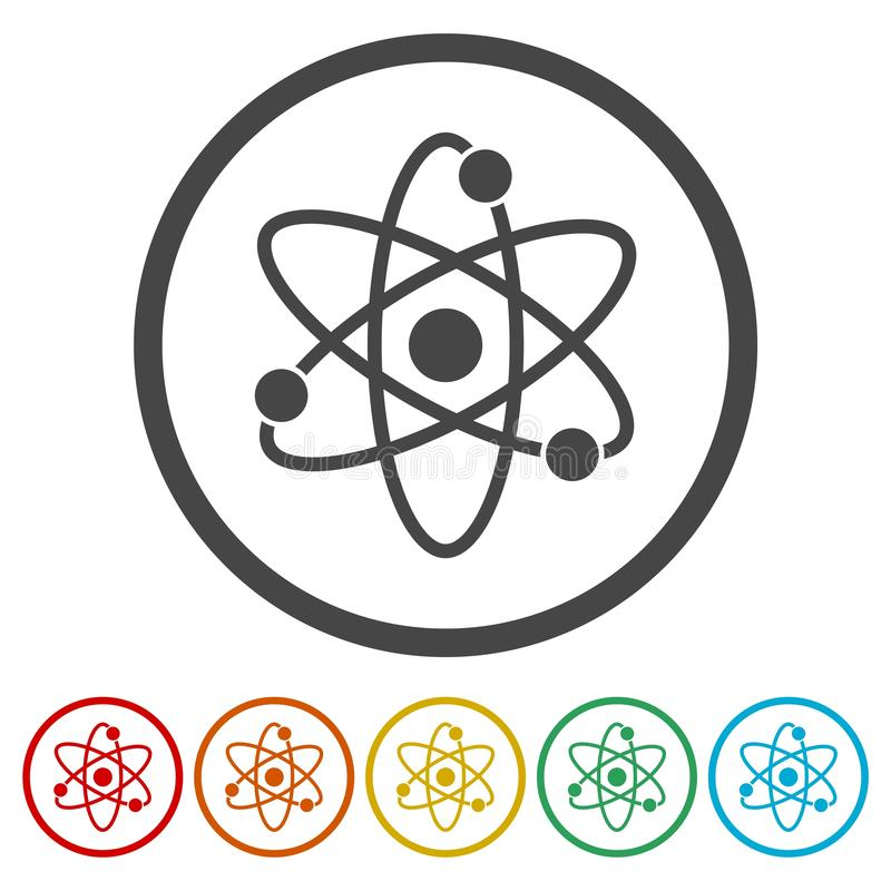 Atom icon. Simple vector icon vector illustration