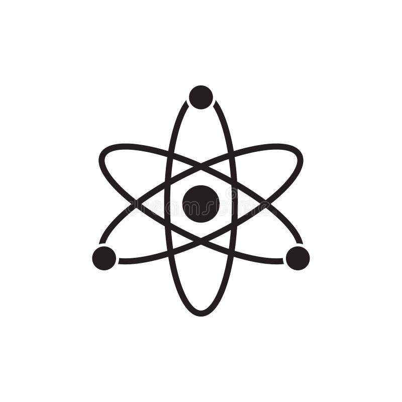 Atom Icon Symbol Vector Illustration arkivbilder