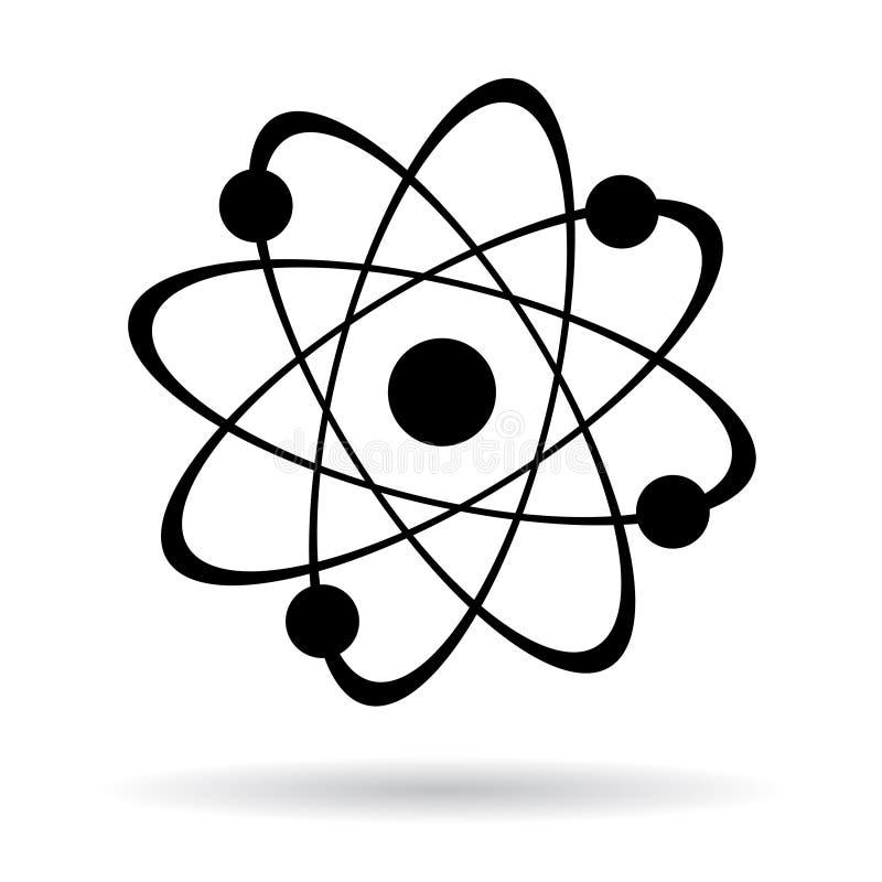 Atom ikona ilustracji