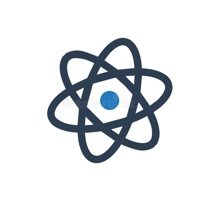 Atom ikona royalty ilustracja