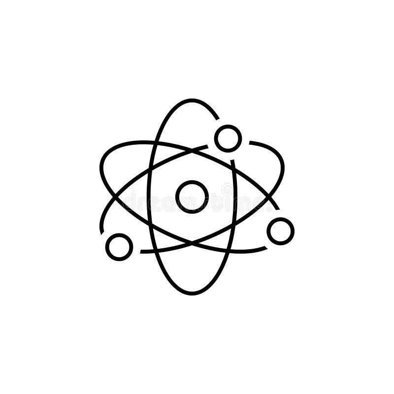Atom ikona Element scientifics nauki ikona dla mobilnych pojęcia i sieci apps Cienka kreskowa atom ikona może używać dla sieci i  ilustracja wektor