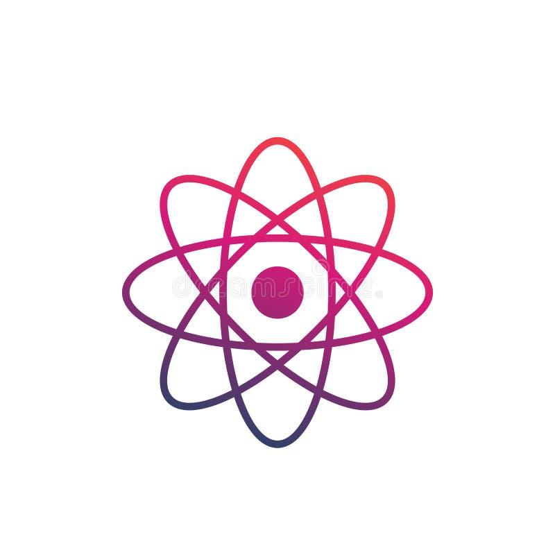 Atom ikona na bielu ilustracji
