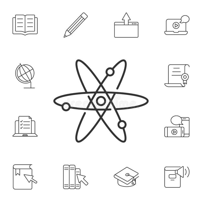 Atom ikona Prosta element ilustracja Atomu symbolu projekt od ekologii kolekci setu Może używać dla sieci i wiszącej ozdoby ilustracja wektor