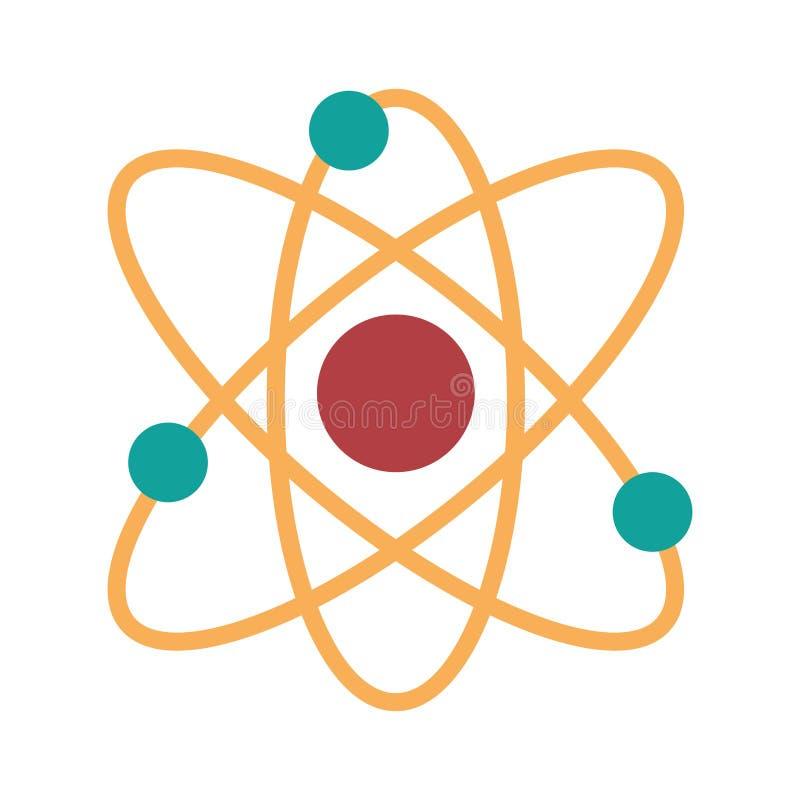 Atom ikony molekuła odizolowywający projekt fotografia royalty free