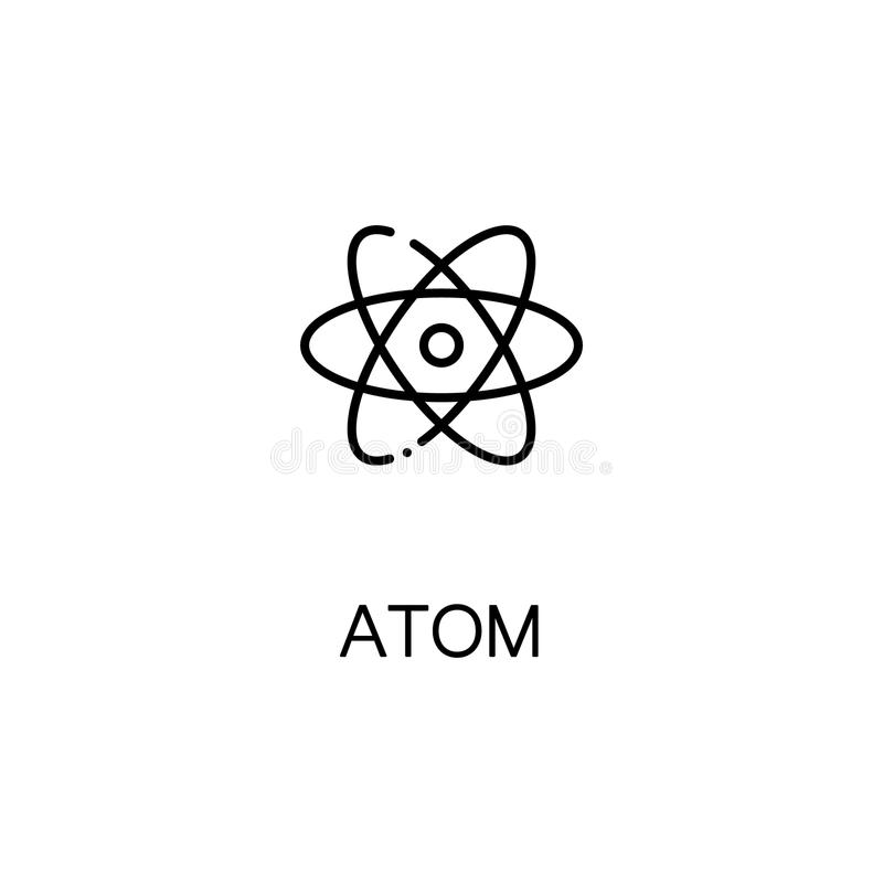 Atom kreskowa ikona royalty ilustracja