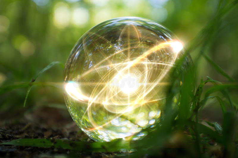 Atom kryształowej kuli natura fotografia royalty free