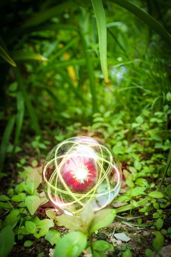 Atom kryszta?owej kuli natura fotografia stock