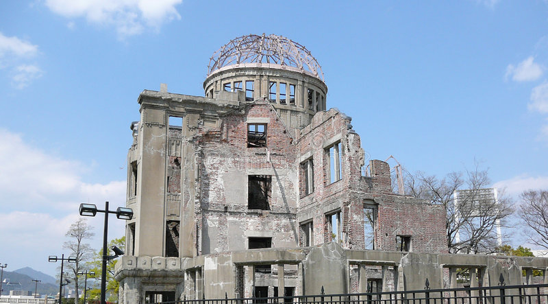 atom- kupol hiroshima arkivfoto