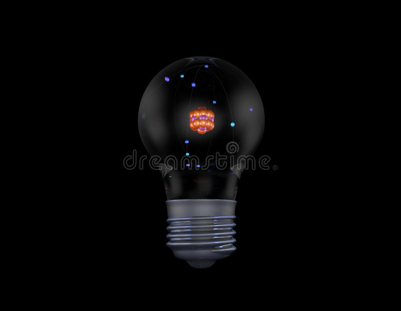 Atom In Light Bulb Royalty Free Stock Image