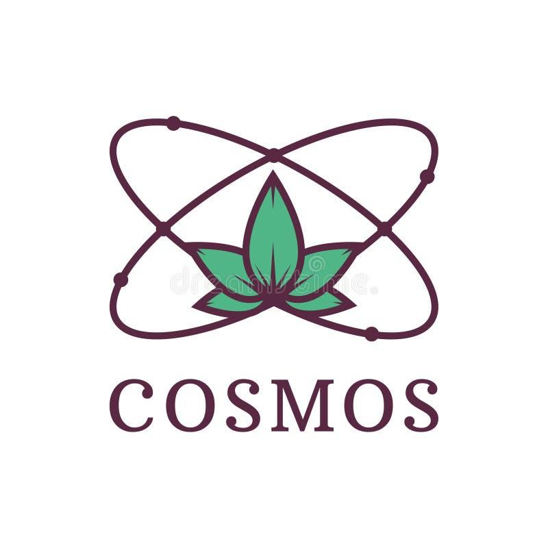 Atom mit Natur Wissenschaft kosmos Umweltfreundliches Transportmittel und erneuerbare Energie Auch im corel abgehobenen Betrag lizenzfreie abbildung