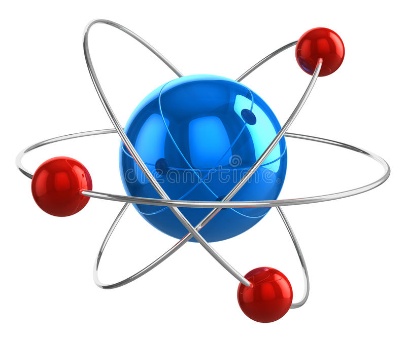 Download Atom model stock illustration. Illustration of formula - 25895536