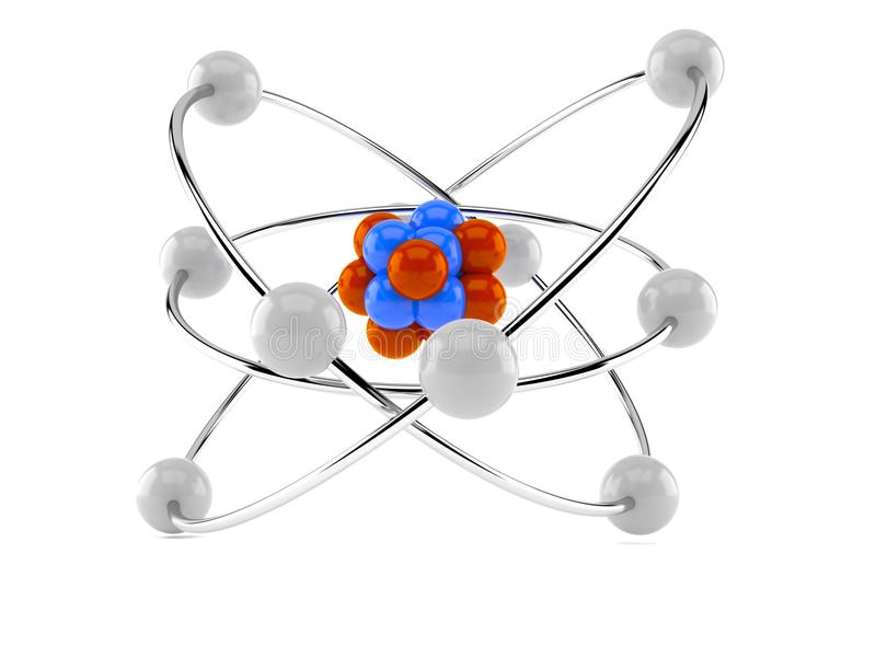 Atom model royalty free illustration