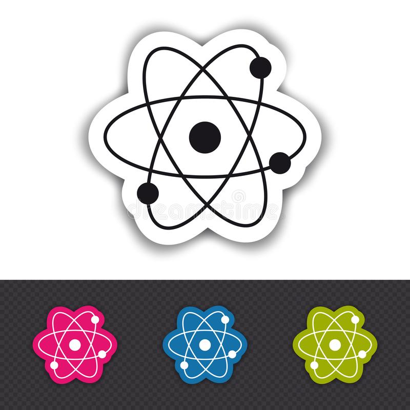 Atom Molecule Icon - Colorful Vector Illustration - Isolated On White And Transparent Background vector illustration
