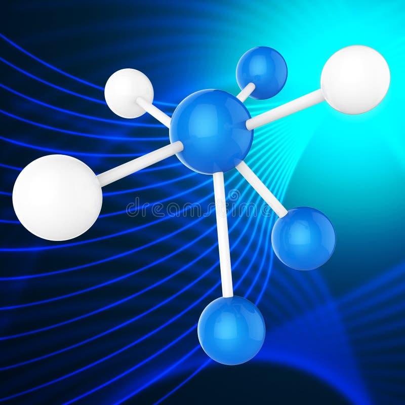 Atom Molecule Indicates Chemical Science en Wetenschapper vector illustratie