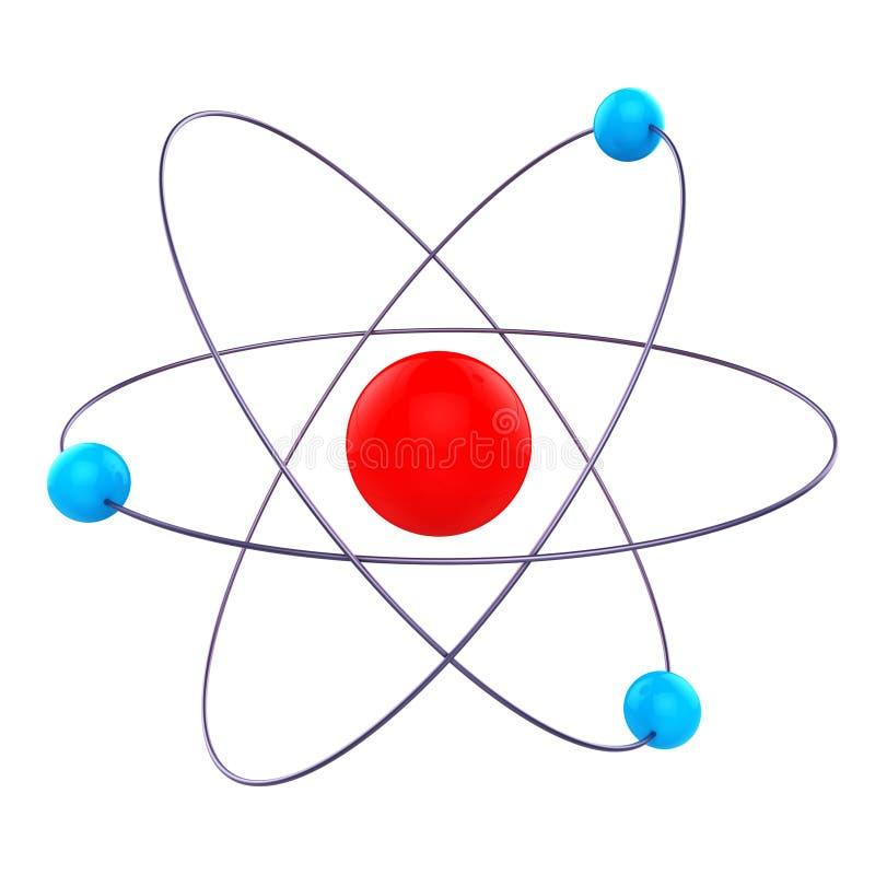 Atom Molecule Means Formula Chemical en Onderzoek vector illustratie