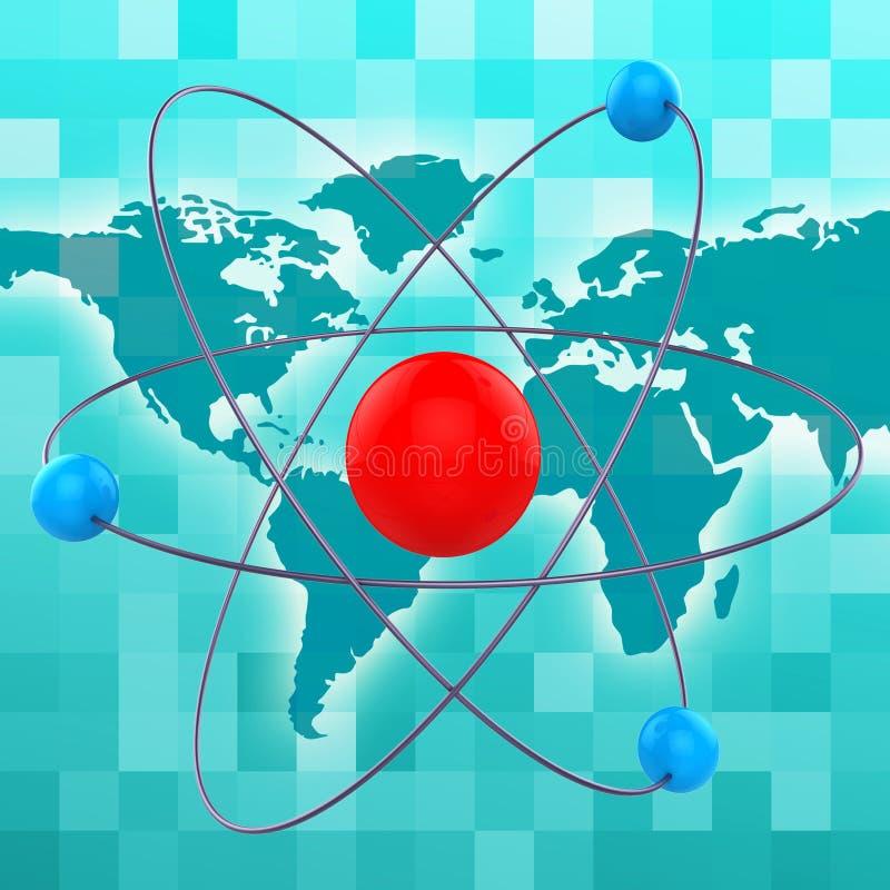 Atom Molecule Shows Chemical Atoms en Formule royalty-vrije illustratie