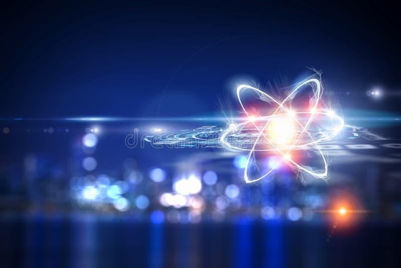 Atom molekuła jako pojęcie dla nauki royalty ilustracja