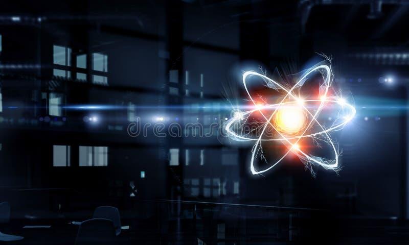 Atom molekuła Mieszani środki zdjęcia stock
