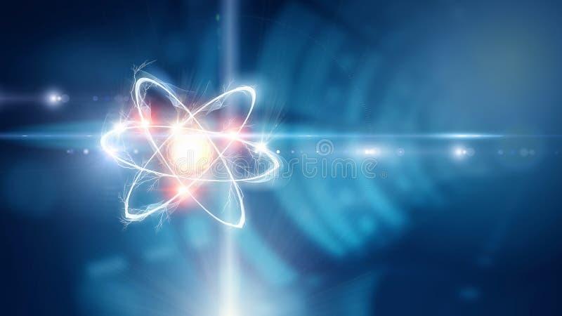 Atom molekuła Mieszani środki ilustracja wektor