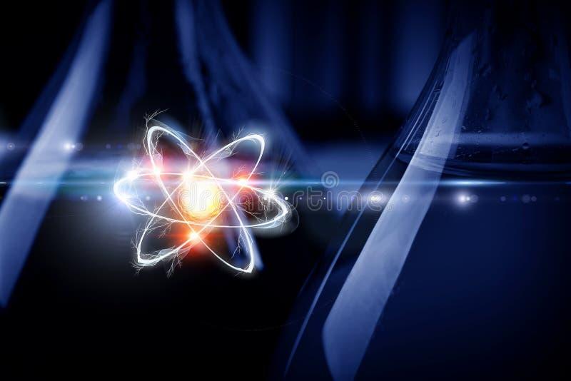 Atom molekuła Mieszani środki ilustracji