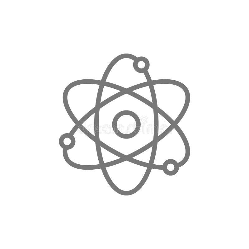 Atom molekyllinje symbol royaltyfri illustrationer